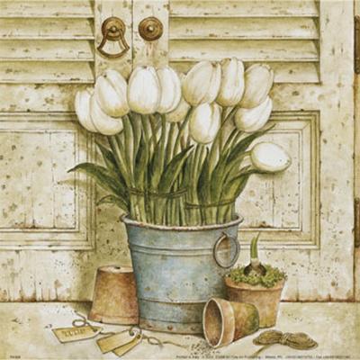 Potted Tulips II-Eric Barjot-Art Print
