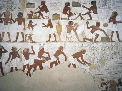Potters and Workers, Fresco, Chapel, Tomb of Rekhmire--Giclee Print