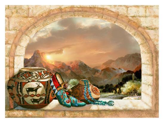 Pottery Arch-Alma Lee-Art Print