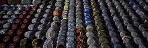 Pottery at a Market Stall, Bukhara, Uzbekistan