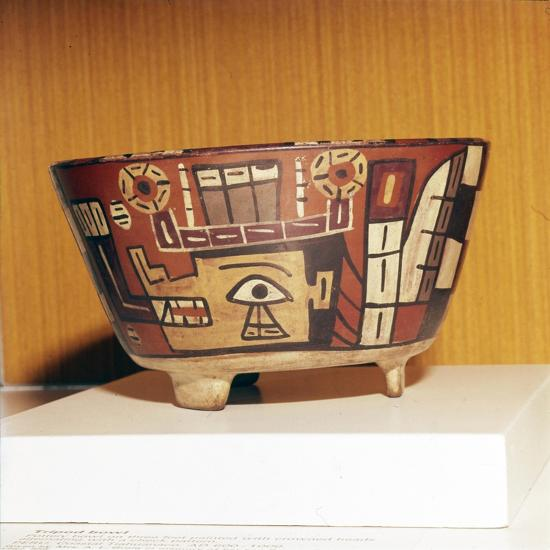 Pottery Bowl from Tiahuanaco Culture, Peru, 600-1000-Unknown-Giclee Print