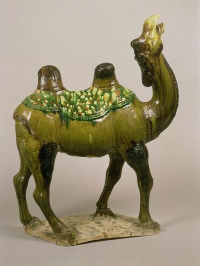 Pottery Chinese Wailing Camel, T'Ang Dynasty, 8th Century Pottery Wailing Camel, 8th Century--Giclee Print