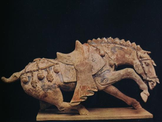 'Pottery Figure of a Horse - T'Ang Dynasty', c7th to 10th century AD, (1936)-Unknown-Photographic Print