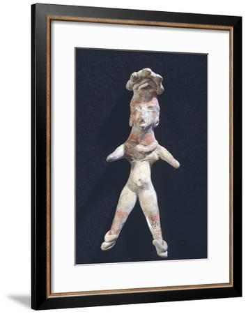 Pottery Figure of a Woman, Artifact Originating from Mexico--Framed Giclee Print