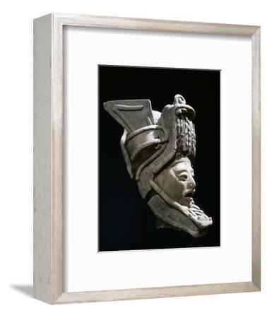 Pottery figurine with elaborate headdress, Veracruz, Mexico, Classic period, 300-1200-Werner Forman-Framed Photographic Print