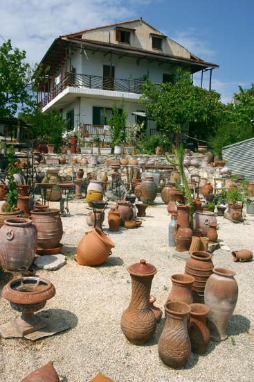 Pottery Karavomilos, Kefalonia, Greece-Peter Thompson-Photographic Print
