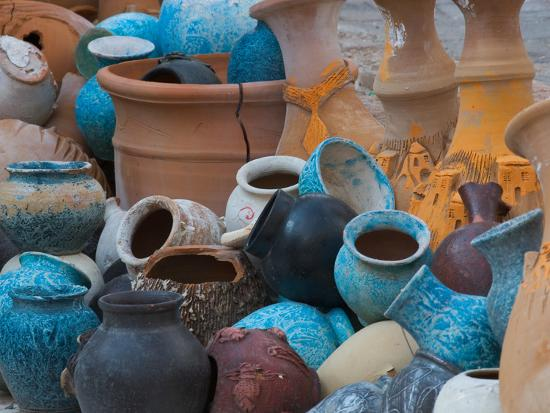 Pottery on the Street in Cappadoccia, Turkey-Darrell Gulin-Photographic Print