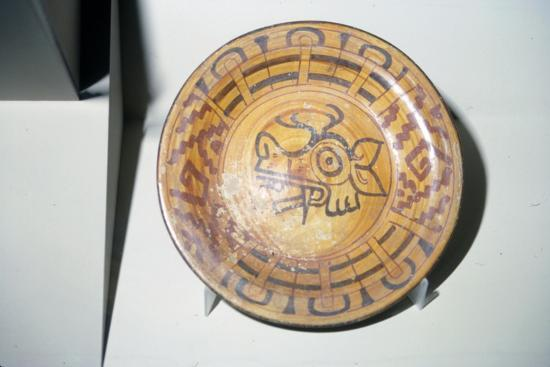 Pottery Plate with Deer motif, Mixtec, Cholula, Mexico, 1300-1521-Unknown-Giclee Print
