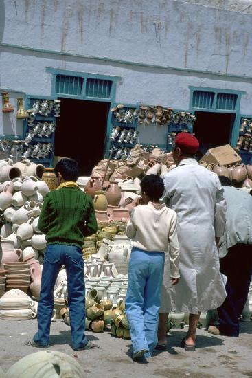 Pottery shop in Kairouan in Tunisia. Artist: Unknown-Unknown-Photographic Print