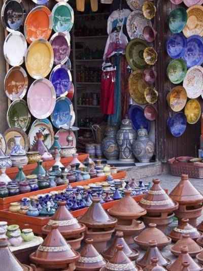 Pottery Shop, Marrakech, Morocco-William Sutton-Photographic Print