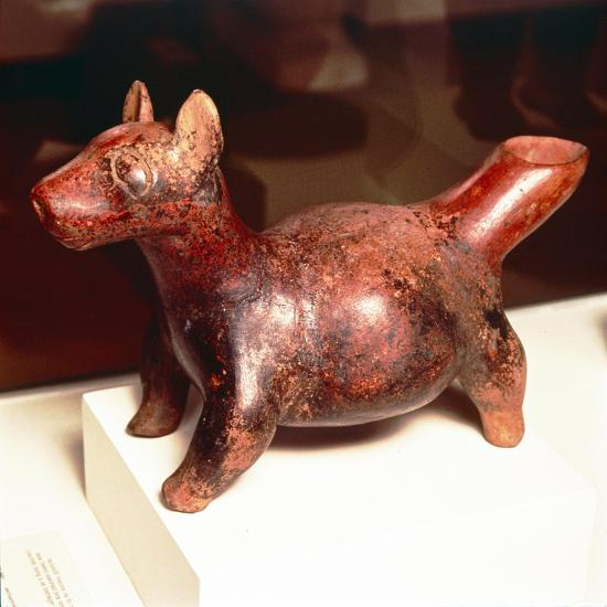 Pottery vessel of Ancient breed of Mexican dog, Colima Culture, Mexico, 300-900-Unknown-Giclee Print