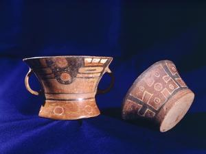 Pottery with Geometric Decorations Originating from Tiahuanaco