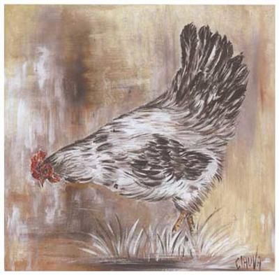 Poule Blanche-Clauva-Art Print