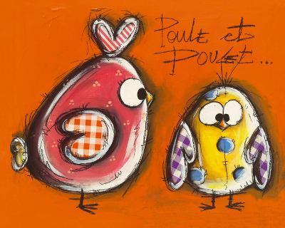 Poule et Poulet-Carine Mougin-Art Print