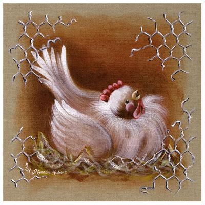 Poule Tete Haute-Stephanie Holbert-Art Print