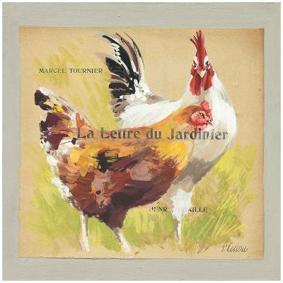 Poules La Lettre du Jardinier-Pascal Cessou-Art Print