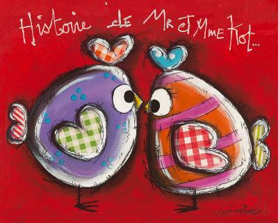 Poules z´amoureuses-Carine Mougin-Art Print