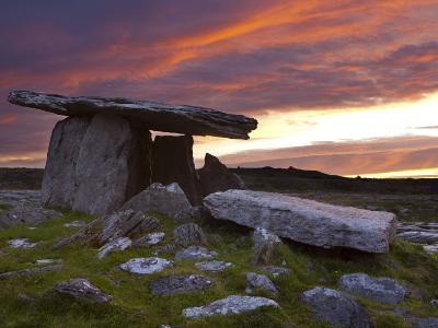 Poulnabrone Dolmen, the Burren, Co, Clare, Ireland-Doug Pearson-Photographic Print