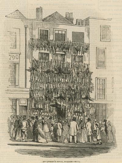 Poulterer's Shop on Holborn Hill--Giclee Print