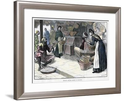 Poultry and Egg Market in Gibraltar, C1880-P Naumann-Framed Giclee Print