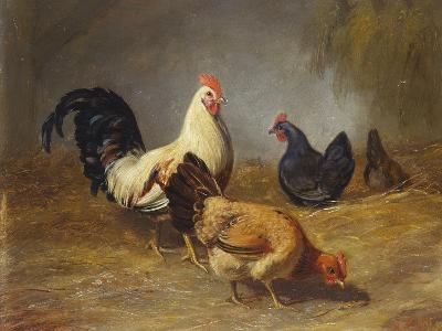 Poultry Feeding-Arthur Fitzwilliam Tait-Giclee Print