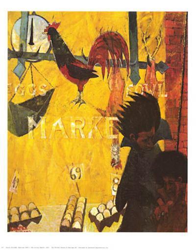 Poultry Market-Walter Williams-Art Print