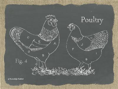 Poultry on Burlap-Gwendolyn Babbitt-Art Print