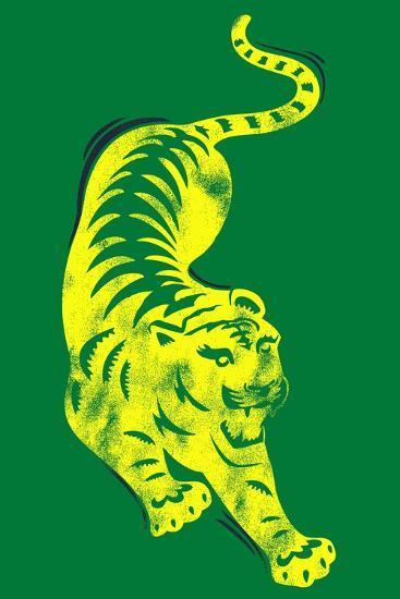 Pouncing Tiger--Giclee Print