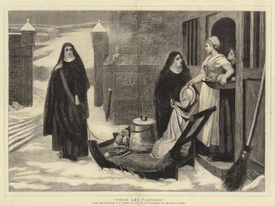 Pour Les Pauvres-William Frederick Yeames-Giclee Print