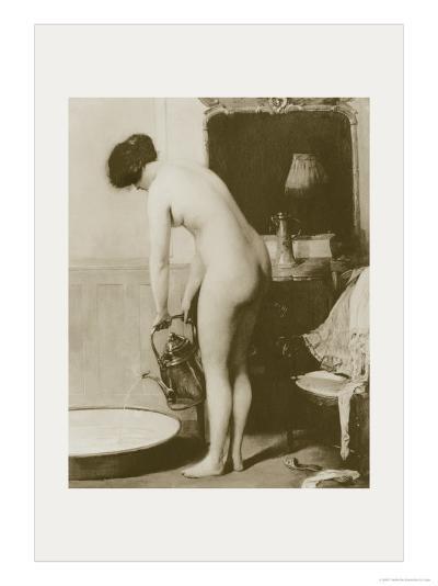 Pouring a Bath-P. Sezille Des Essarts-Art Print
