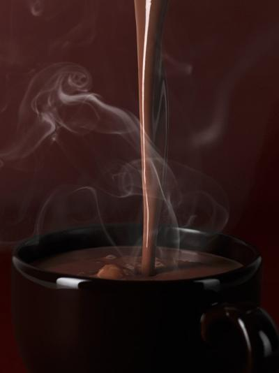 Pouring Hot Chocolate into a Cup-Armin Zogbaum-Photographic Print