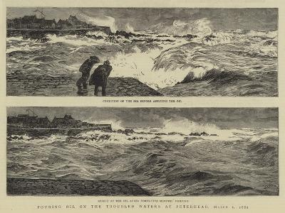 Pouring Oil on the Troubled Waters at Peterhead, 1 March 1882-William Lionel Wyllie-Giclee Print