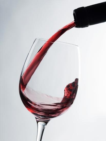 Pouring Red Wine-Caroline Martin-Photographic Print