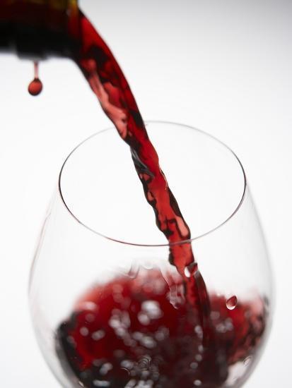 Pouring Red Wine-Joerg Lehmann-Photographic Print