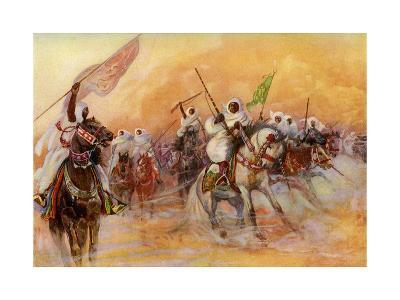 Powder Play, Morocco--Giclee Print
