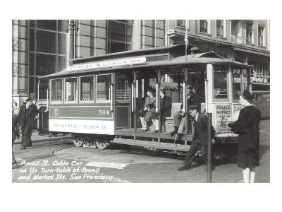 Powell Street Cable Car, San Francisco, California--Art Print