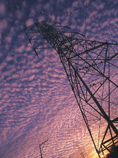 Power Line Tower-Mitch Diamond-Photographic Print