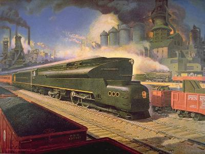 Power' Locomotive, 1945--Giclee Print