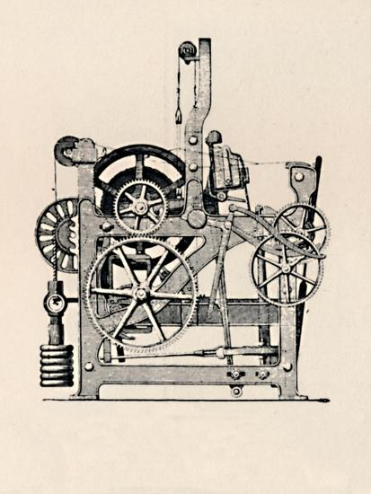 'Power Loom (Side View)', 1836, (1904)-Unknown-Giclee Print