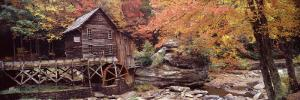 Power Station in a Forest, Glade Creek Grist Mill, Babcock State Park, West Virginia, USA