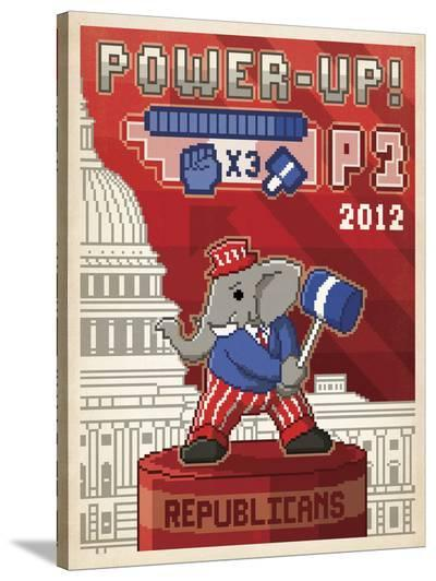 Power-Up! (Elephant)-Anderson Design Group-Stretched Canvas Print
