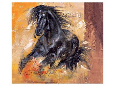 Powerful Arabian Beauty-Joadoor-Art Print