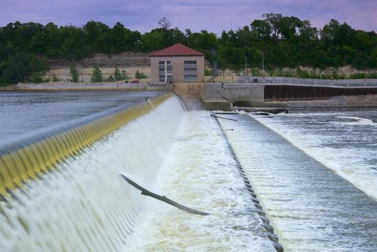 Powerhouse and Dam Spillway-jrferrermn-Photographic Print