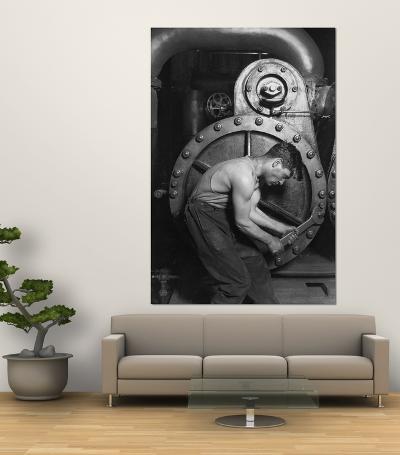 Powerhouse Mechanic-Lewis Wickes Hine-Giant Art Print