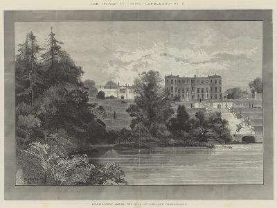 Powerscourt House, the Seat of Viscount Powerscourt-Charles Auguste Loye-Giclee Print