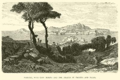 Pozzuoli, with Capo Miseno and the Islands of Procida and Ischia--Giclee Print