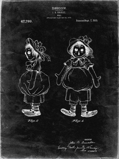 PP1005-Black Grunge Rag Doll Poster-Cole Borders-Giclee Print