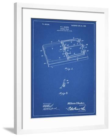 PP1007-Blueprint Rat Trap Patent Print-Cole Borders-Framed Giclee Print