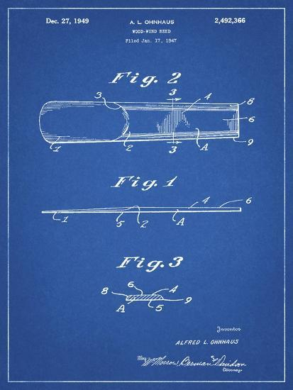 PP1010-Blueprint Reed Patent Poster-Cole Borders-Giclee Print