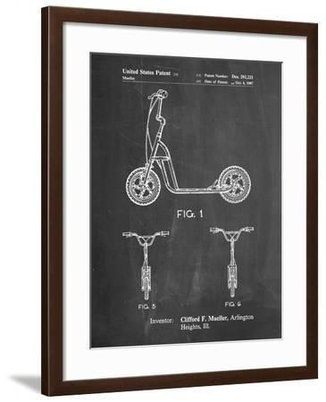 PP1030-Chalkboard Scooter Patent Art, 80s Toys, 80s Decor, PP1030-Cole Borders-Framed Giclee Print